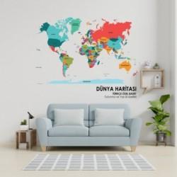 Dünya Haritası (Buzlu)