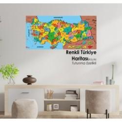 Renkli Türkiye  Haritası