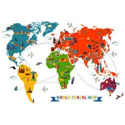DÜNYA GAZİ ROTALARI HARİTASI (WORLD TRAVEL MAP)