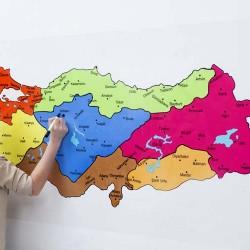 Türkiye Bölgeler Haritası Şeffaf 150x83 cm