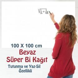 BEYAZ Süper Bi Kağıt  100 X 100 cm 2 ADET