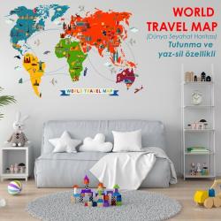 DÜNYA GEZİ ROTALARI HARİTASI (WORLD TRAVEL MAP)